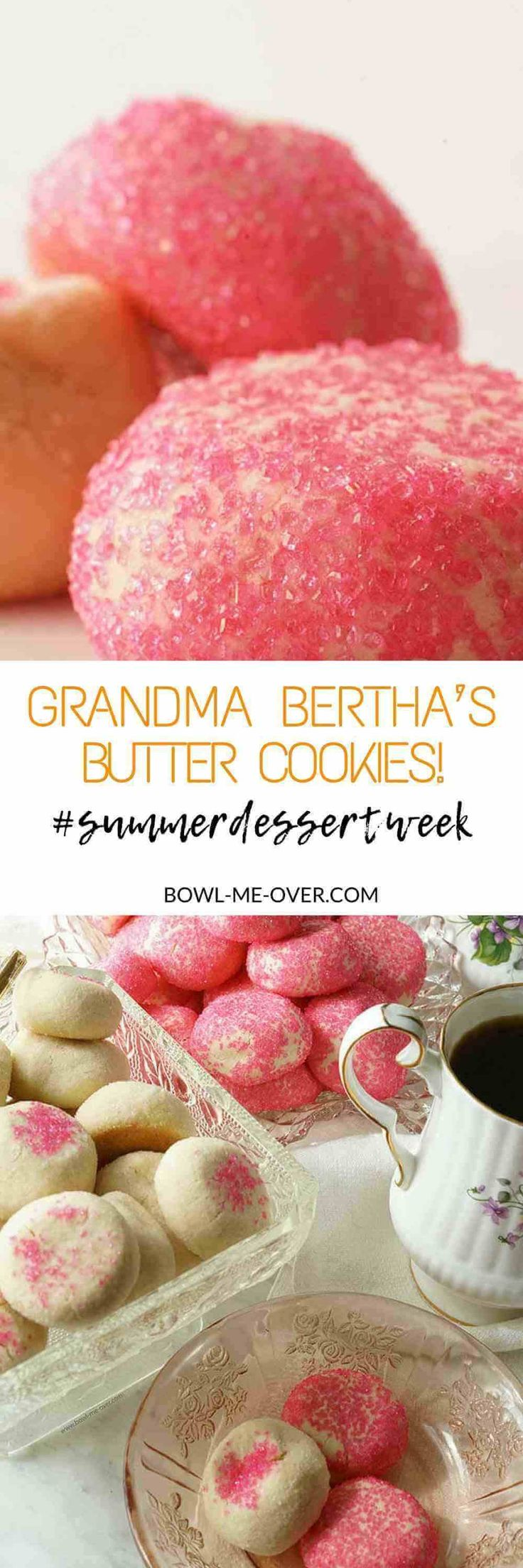 Do you love a sweet treat? Grandma Bertha's Butter Cookies! A family favorite these cookies are a sweet snack for the kids & delicious with coffee or tea! #ad #SummerDessertWeek