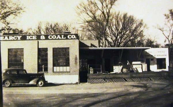 Searcy Arkansas Ice and Coal Building Approximately 1940's.