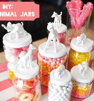 DIY Toy animal (candy) jars // (Cukorka) tartók műanyag állatokból és befőttes üvegekből // Mindy - craft & DIY tutorial collection