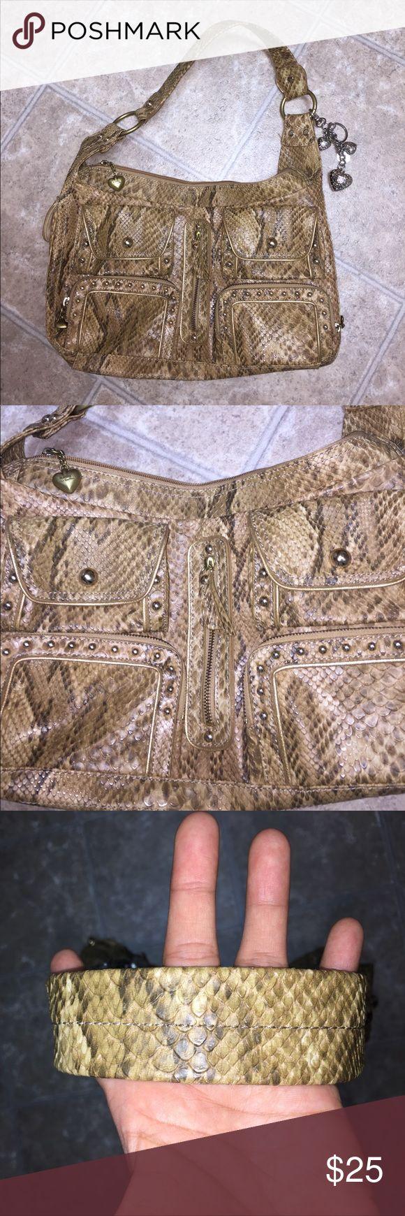 Kathy hand bag Snake print Kathy Van Zeeland Bags Shoulder Bags