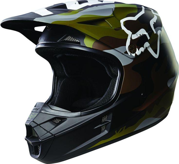 Fox Racing V1 Camo Mens Dirt Bike Off Road Motocross Helmets