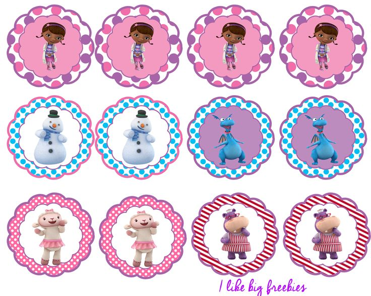 FREE!: Doc McStuffins party printables (cupcake toppers and cupcake wrappers)