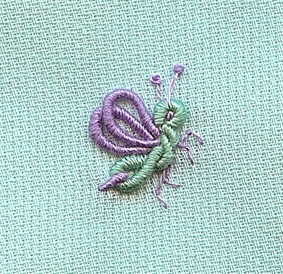 Bullion Firefly | Flickr - Photo Sharing!....first firefly I've yet seen on embroidery!