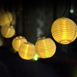 104 best solar string lights images on pinterest balconies decks innoo tech solar string lights outdoor 157ft 20 led warm white fabric lantern ball https workwithnaturefo