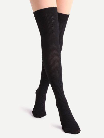 Pantimedias patchwork de rayas - negro nude