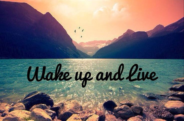 Wake Up Live Your Life To The Fullest Justlivebrand