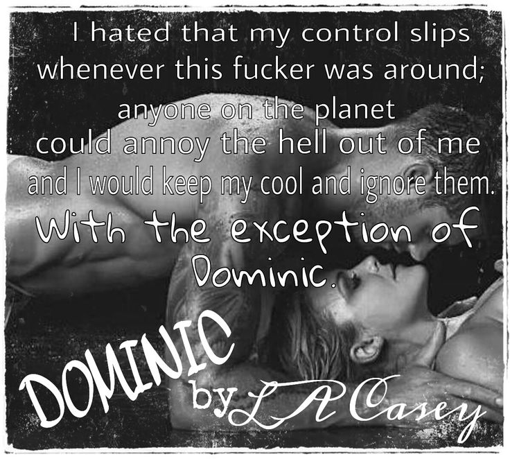 Dominic (Slater Brothers #1) by L.A. Casey
