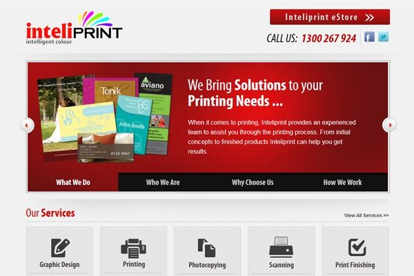 At Inteliprint we provide a wide range of print services from the simplest of photocopying to full colour printing.
