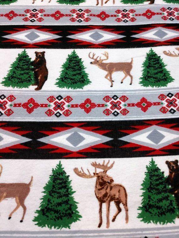 Southwest Bears Deer Christmas Stocking Novelty Stocking Unique