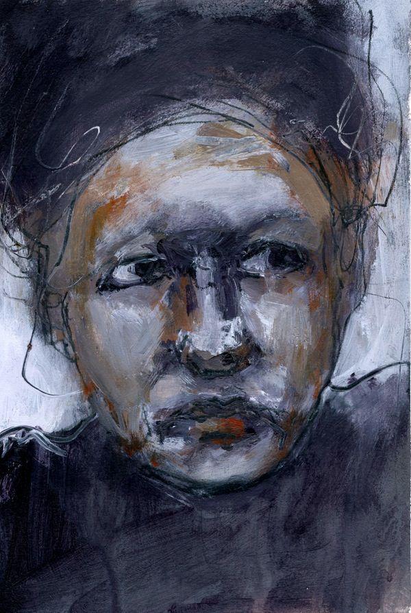 Image of Monica - Original Acrylic Painting on Paper - Gillian Lee Smith artist