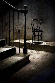 Sometimes you just feel like an empty chair...or it you take the whole picture into account ....would that be alone...nothingness?