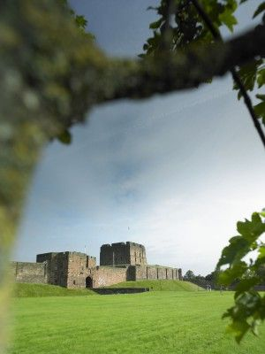 View of the walls of Carlisle Castle in Cumbria, England. When William the Conqueror invaded England in 1066 Carlisle was part of Scotland, this changed in 1092 when his son William Rufus took control and built Carlisle Castle on the site of an old Roman ruin.