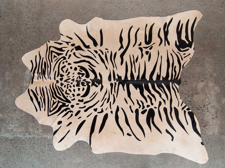 Blonde Tiger Printed Cowhide Rug By Gorgeous Creatures Www Gorgeouscreatures Co Nz