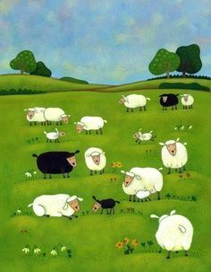 Sheeps.  Simona Dimitri ~