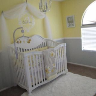 yellow and grey nursery for my sweet Addison