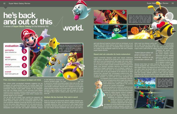 editorial page layouts | Magazine Layout Design: Galaxy by ~BlakliteGraphics on deviantART