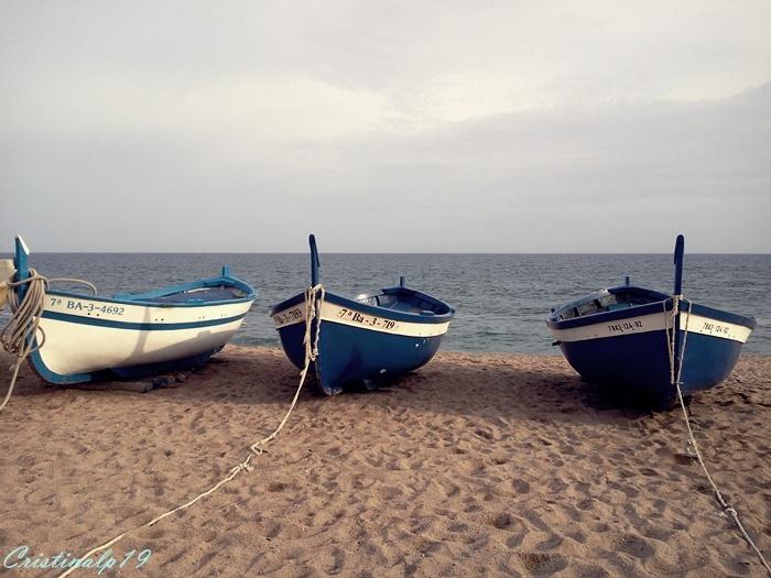 #Pineda de Mar #PinedadeMar #Playa #Beach #Spain #Espana #Maresme #Catalunya #Agua #Water #Sky #Cielo #Barcas #Boats #Azul #Blue #Arena