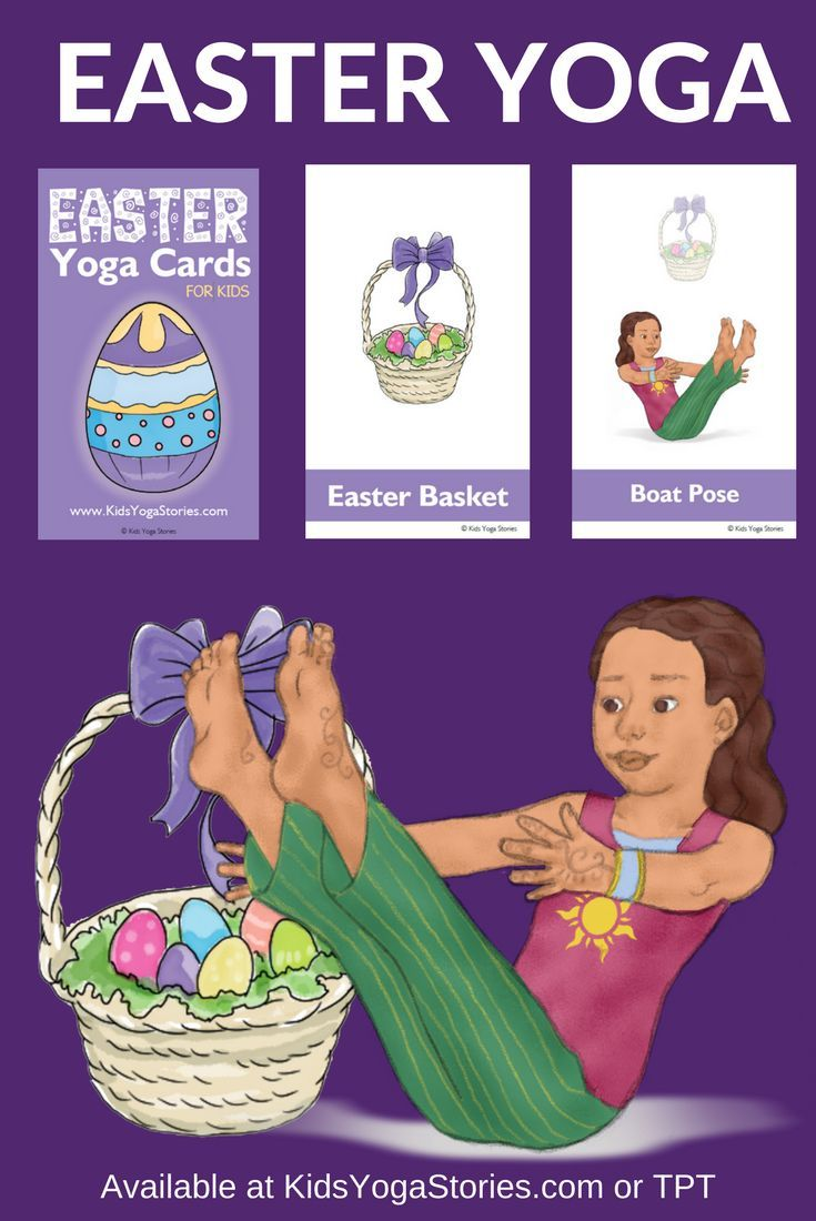 Easter Activities Yoga Cards For Kids Yoga For Kids Yoga Cards Kids Cards