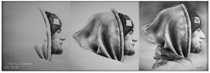"""BlabberMouf"" Series: RAP Portrait in Graphite on paper 35cm x 50cm"