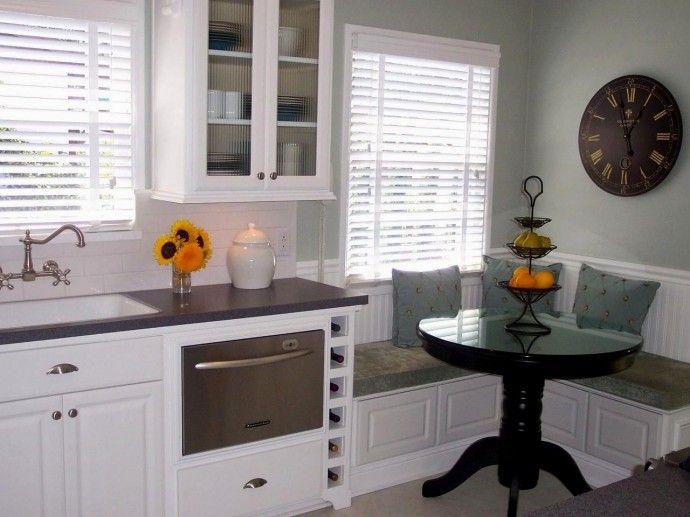 Кухонный уголок с системами хранения . | Colors.life