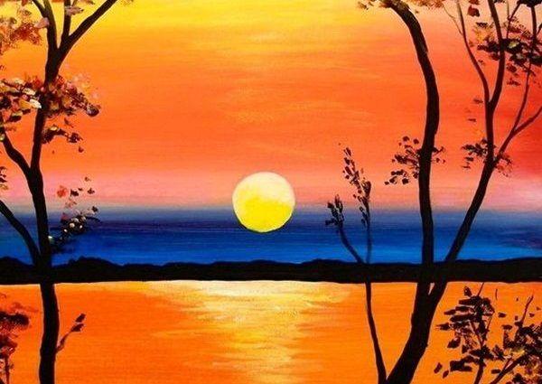 Image Result For Landscape Easy Painting Paisajes Pintados Con Acuarela Paisaje Para Pintar Pinturas De Paisajes Faciles