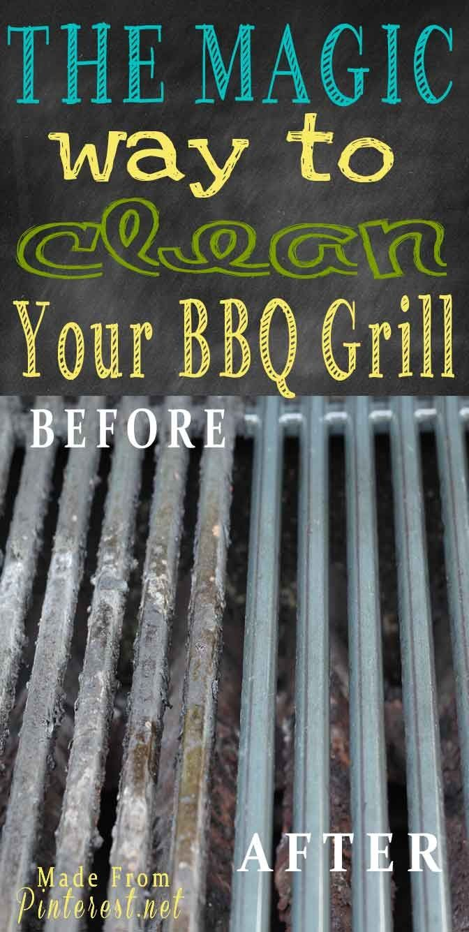 how to clean your grill without scrubbing: ammonia is the key.