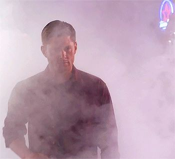 Allow me to interrupt you day with this gif of Dean swaggering in dramatic slow mo out of the mist......you may now continue
