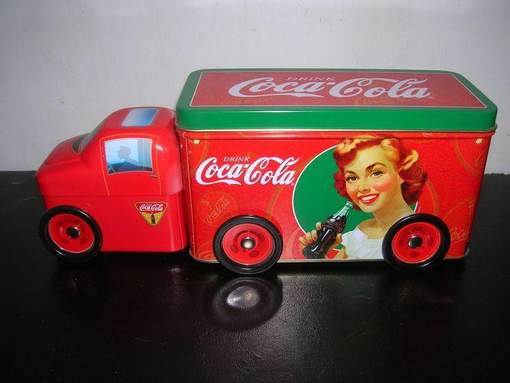 Coca-Cola Truck scatola di latta vintage