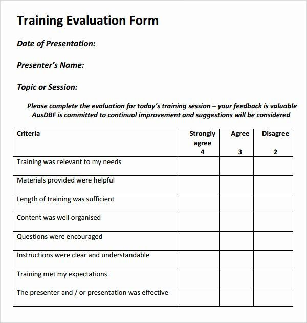Kostenloses Standard Evaluation Report