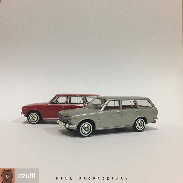Reposted From Dzultl Datsun Wagon 1 64 Tomytec Diecast