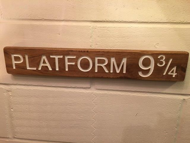 Hogwarts Express and Harry Potter fans! Crafted in solid hardwood. Visit www.craftsandgiraffes.co.uk for further info!