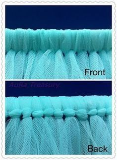 Tulle curtains-making these for a friends wedding :)