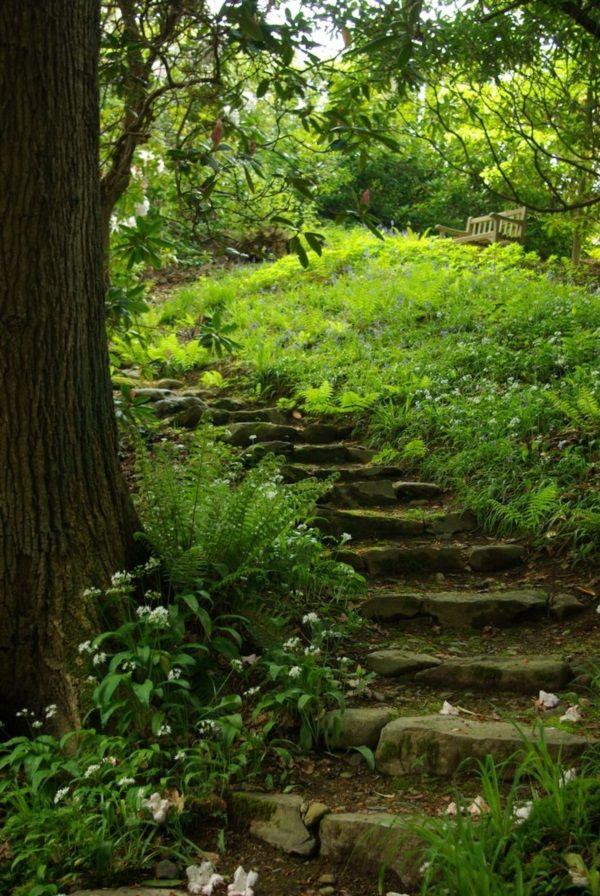 Cool Garden Stair Ideas For Inspiration (12)