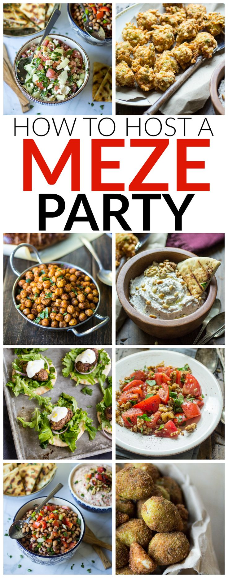 How to Host a Turkish Meze Party: Meze parties are a fun and easy way to plan a night with family and friends. Make the recipes, set the table, and keep the red wine flowing!