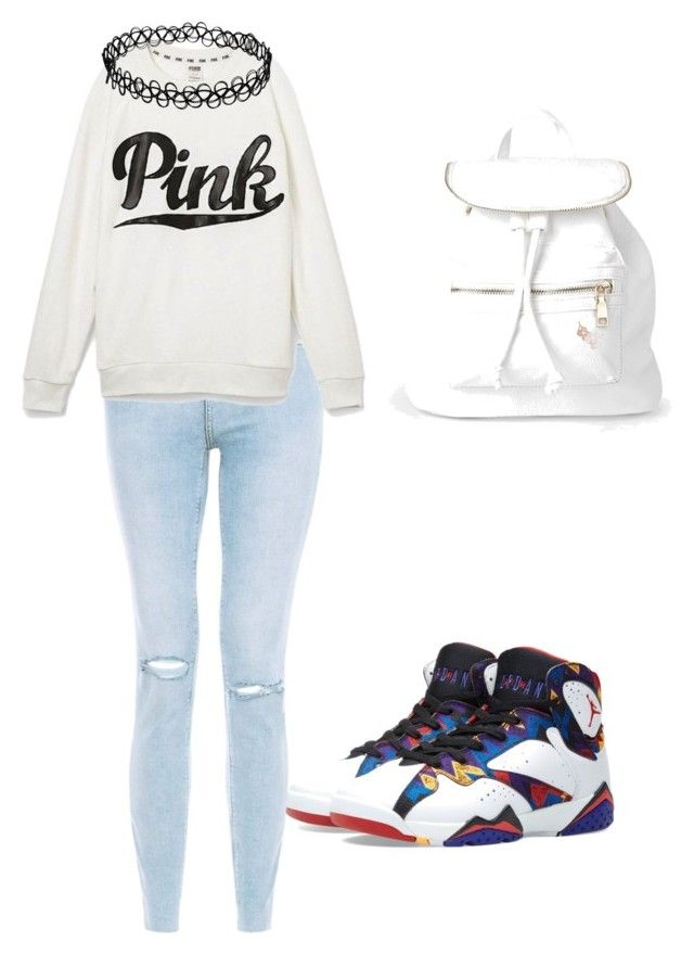 """""""My outfit"""" by karenangustia on Polyvore featuring Jordan Brand, Victoria's Secret and Boohoo"""