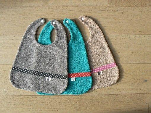 Patron de bavoir bébé en français gratuit