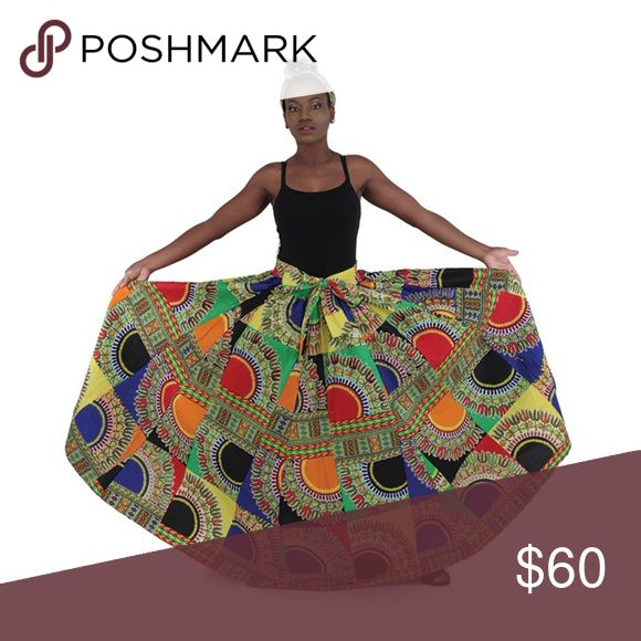African Multi Traditional Print Maxi Skirt w/Scarf Absoultely Stunning…Bold an…   – My Posh Closet