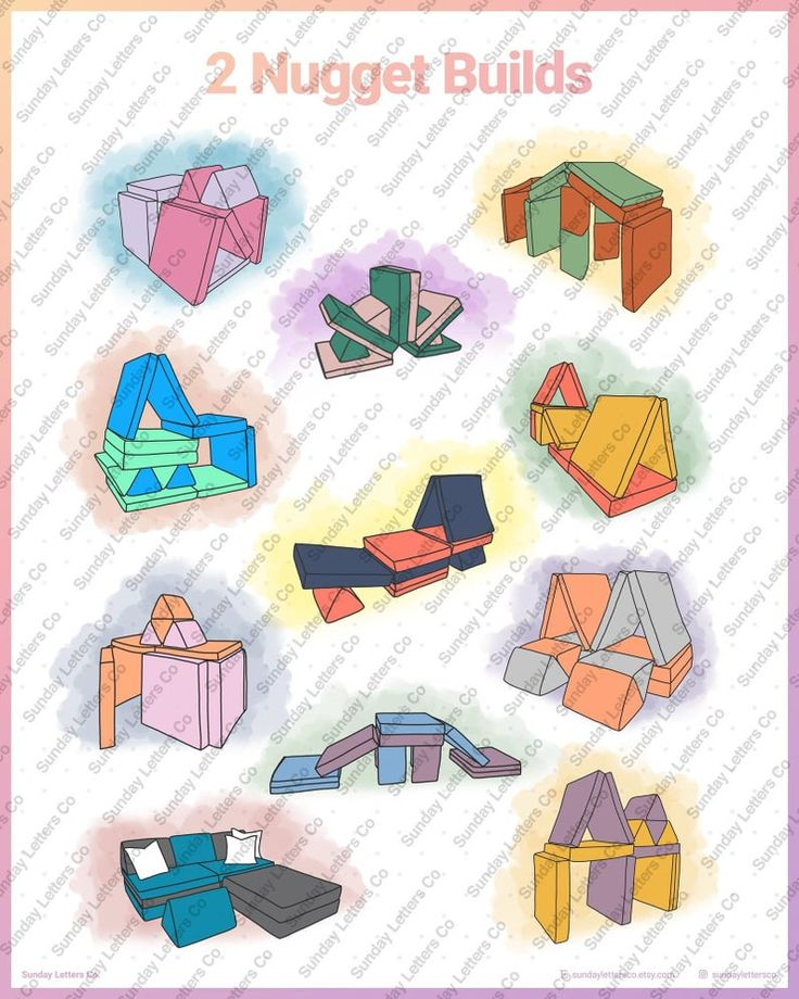 2 Nugget Builds - Nugget Couch Ideas Poster (Digital) in ...
