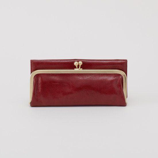 the rachel wallet // mahogany