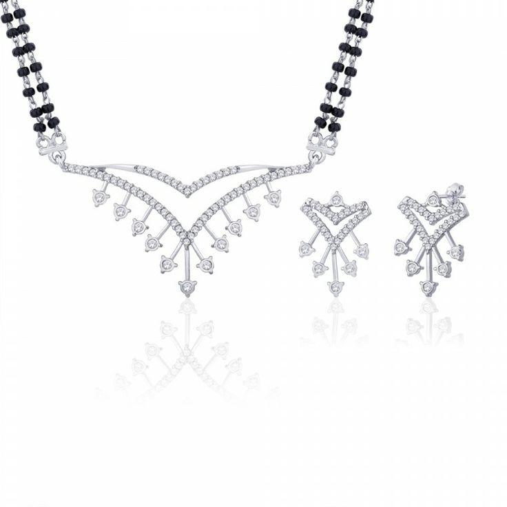 Peora | Yuti - Rhodium Plated - Mangalsutras - Women's Jewellery - Jewellery | Fine Silver Jewellery