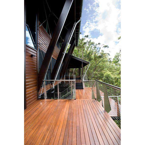 Deck stain dark with black rails chippy 39 s outdoor for Garden decking colours