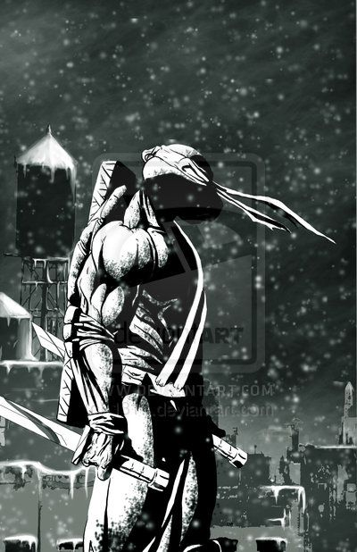 Leonardo by 1314 In the concrete jungle he stood. He gazed over the place his soul had been tied to from birth, the sky opened up and soft snow started to drift towards him. But he never took his eyes off his home. He was it's guardian, the protector from the shadows. Always watching.
