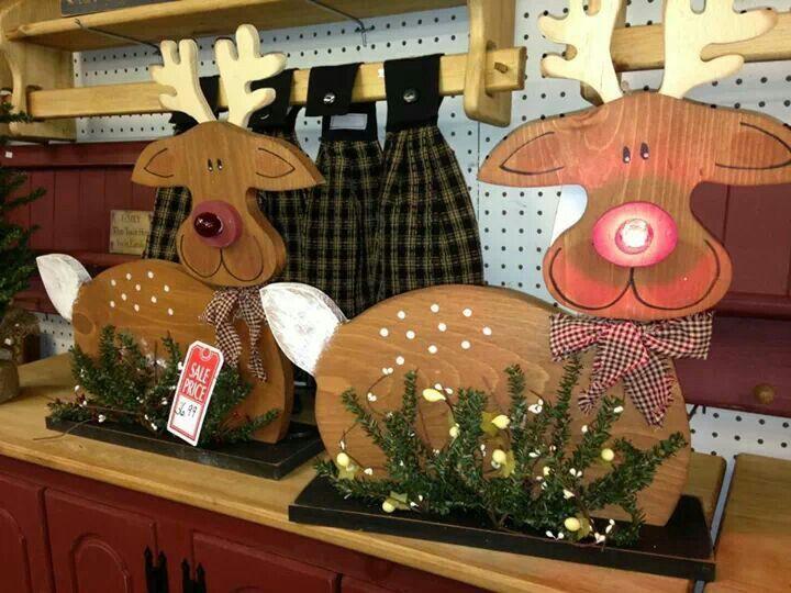 Wood reindeer   Crafts   Pinterest
