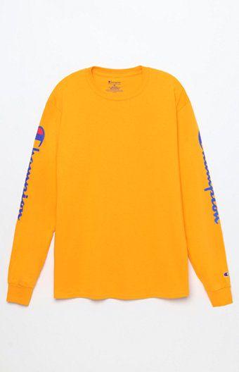 Reverse Weave Orange Long Sleeve T-Shirt – Wardrobe