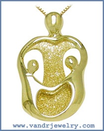 Loving Family Pendants - Mother and Two Children  My family....Me and my two girls.