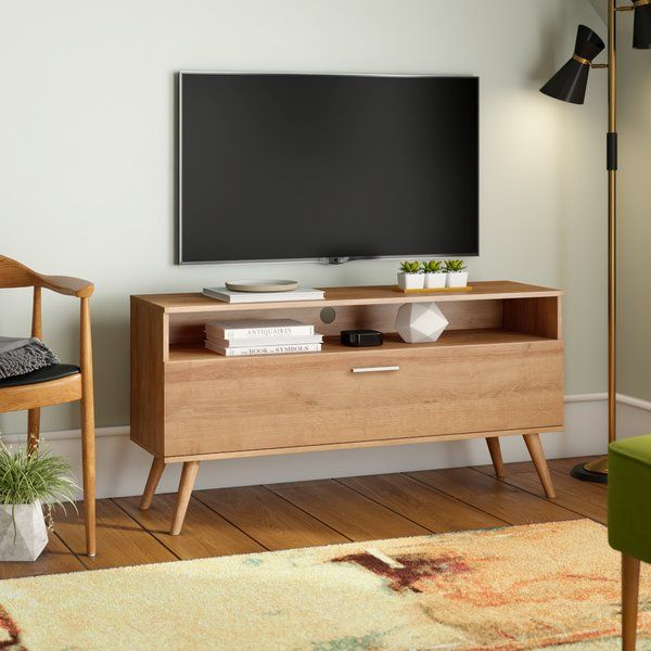 A Scandinavian Style Oak Tv Unit With The Storage Compartment And Built In Display Area Apartment Living Room Home Living Room Living Room Scandinavian