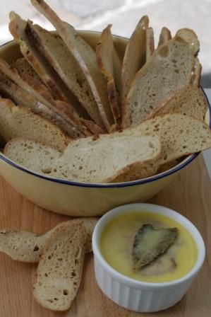 the best chicken liver pate with focaccia melba toast