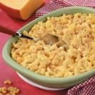 Macaroni and Cheese - made this as directed, except left out the velveeta and used more cheddar instead. I only baked it for 15 minutes also.  Delicious!  Mara loved it!