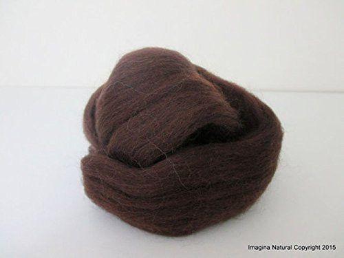 Free Shipping Brown Grey Handmade Merino Roving Wool Hand Spinning Felting Fibre Araucania Craft Art Chilean Knitting Chunky 18 Micron