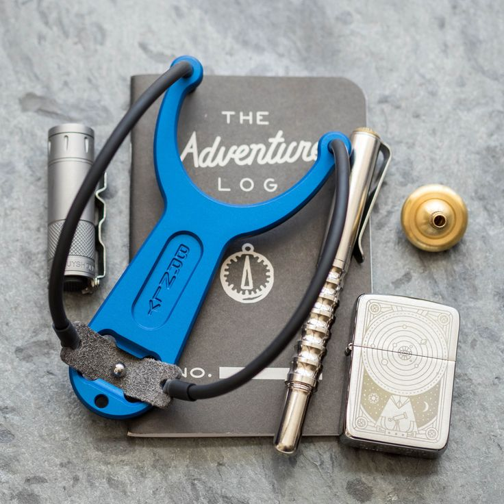 Precision Built Everyday Carry Slingshot, in StunningBlue The Urban EDC Supply exclusive run of the BRNLY SlingPop is anodized in a deep indigo. To match the a